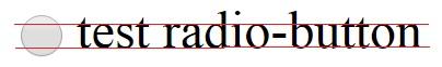 Радио-кнопка выровнена по вертикали